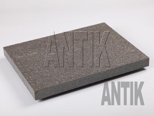 Gabbro Bodenplatten Antik Nero geflammt 400x300x30