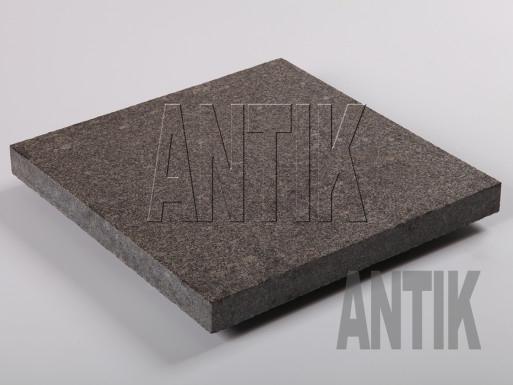 Gabbro Bodenplatten Antik Nero geflammt 400x400x30