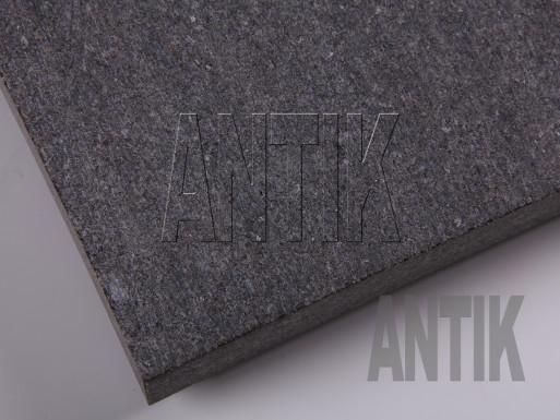Gabbro Bodenplatten Antik Nero gesägt 300x300x30