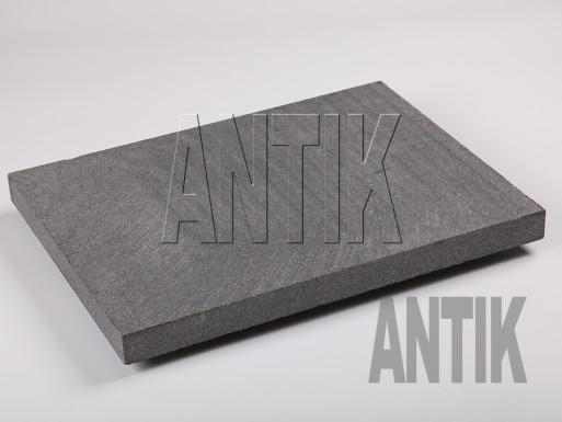 Gabbro Bodenplatten Antik Nero gesägt 400x300x30