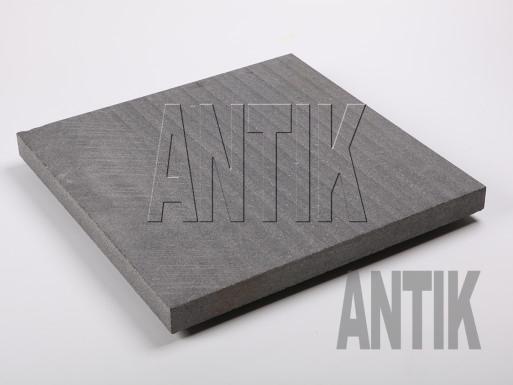 Gabbro Bodenplatten Antik Nero gesägt 400x400x30