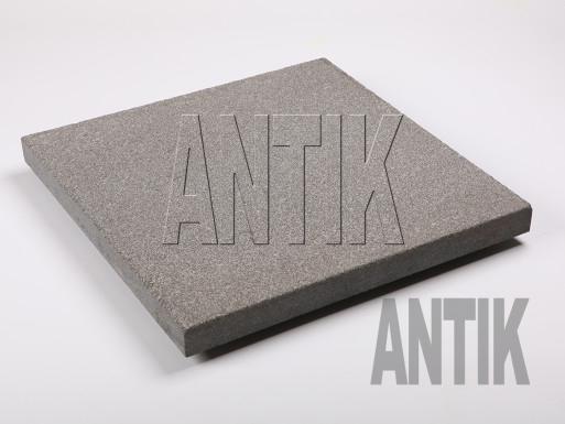 Gabbro Bodenplatten Antik Nero kugelgestrahlt 400x400x30