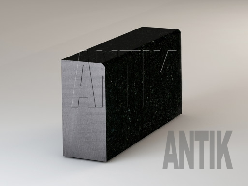 Gabbro Bordsteine Antik Nero poliert 300x150
