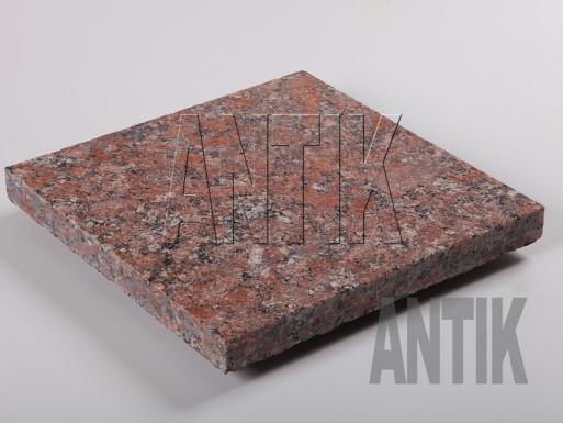 Granit Bodenplatten Rosso Santiago geflammt 300x300x30