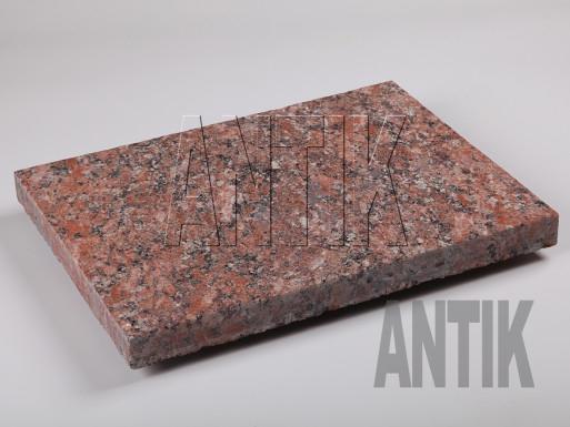 Granit Bodenplatten Rosso Santiago geflammt 400x300x30