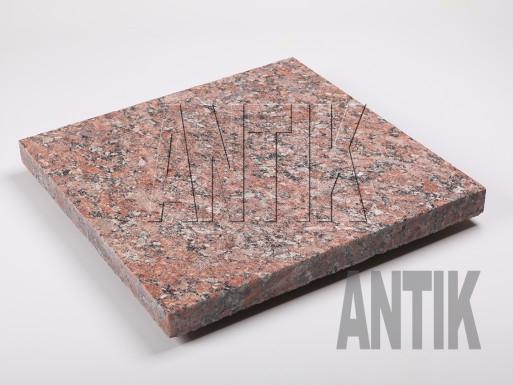 Granit Bodenplatten Rosso Santiago geflammt 400x400x30