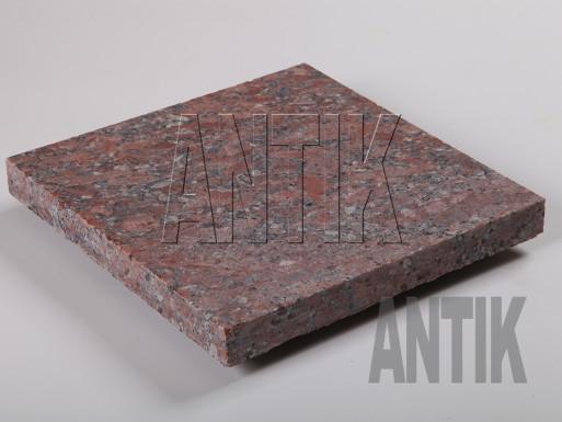 Granit Bodenplatten Rosso Santiago gesägt 300x300x30