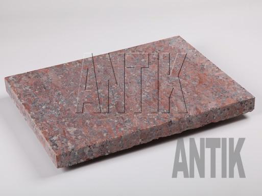 Granit Bodenplatten Rosso Santiago gesägt 400x300x30