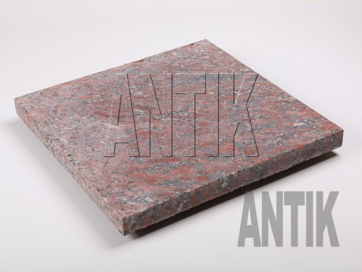 Granit Bodenplatten Rosso Santiago gesägt 400x400x30