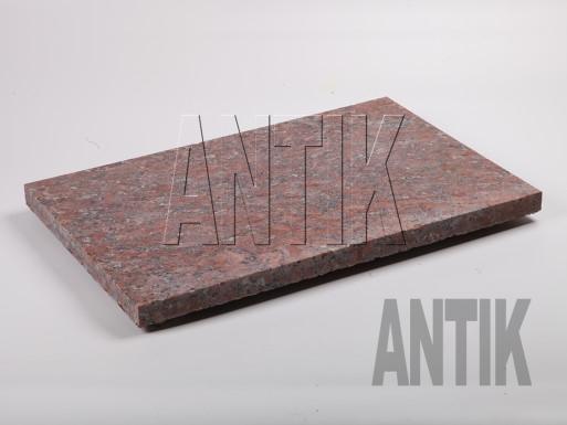 Granit Bodenplatten Rosso Santiago gesägt 600x400x30