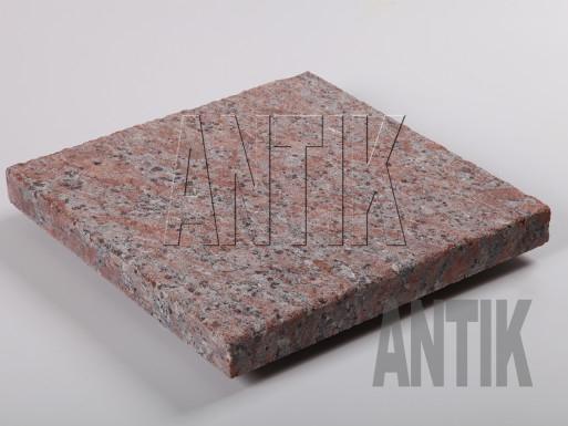 Granit Bodenplatten Rosso Santiago kugelgestrahlt 300x300x30