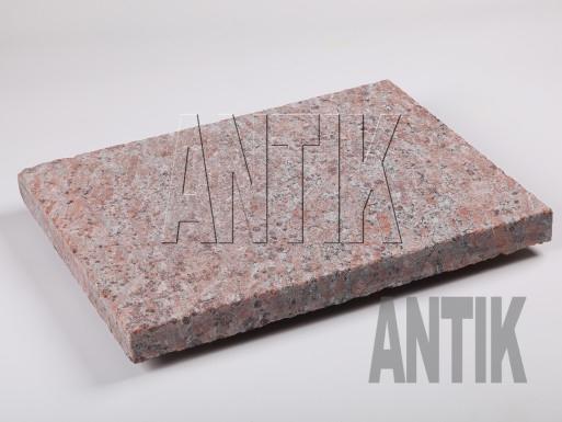 Granit Bodenplatten Rosso Santiago kugelgestrahlt 400x300x30