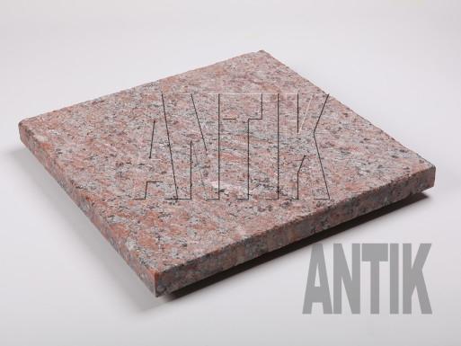Granit Bodenplatten Rosso Santiago kugelgestrahlt 400x400x30