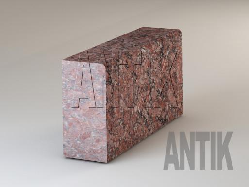 Granit Bordsteine Rosso Santiago geflammt 300x150