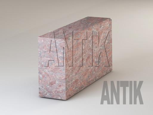 Granit Bordsteine Rosso Santiago gesägt 300x150
