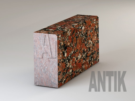 Granit Bordsteine Rosso Santiago poliert 300x150