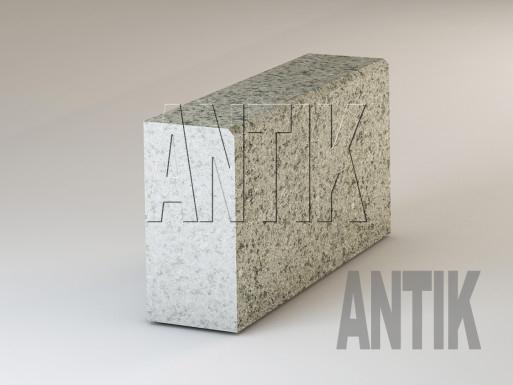 Granit Bordsteine Verde Oliva geflammt 300x150