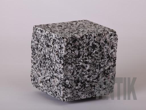 Granit Pflastersteine Grey Ukraine gesägt und gespalten 100x100x100