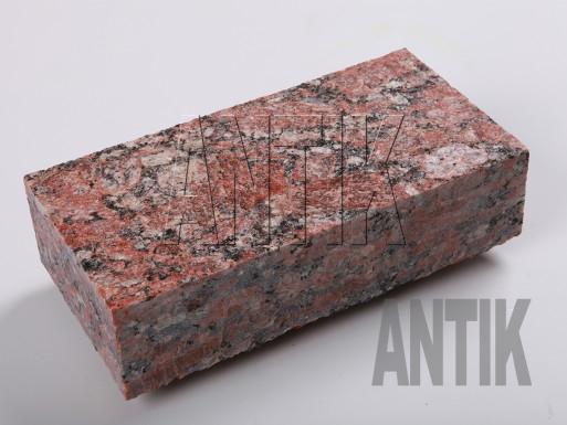 Granit Pflastersteine Rosso Santiago gesägt 200x100x50