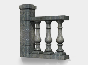 Stone balusters applications