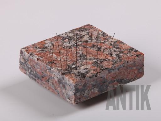 Брусчатка гранит пиленая Капустинское (Rosso Santiago) 100x100x30