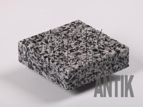 Брусчатка гранит пиленая Покостовское (Grey Ukraine) 100x100x30 (мокрая)