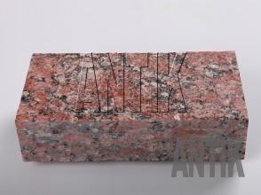 Брусчатка гранит пиленая Капустинское (Rosso Santiago) 200x100x50
