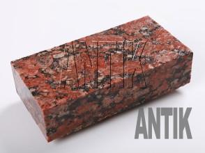 Брусчатка гранит пиленая Капустинское (Rosso Santiago) 200x100x50 (мокрая)