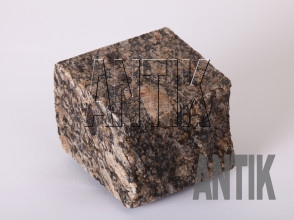 Брусчатка гранит пилено-колотая Софиевское (Sophiyvsky) 100x100x100 (мокрая)