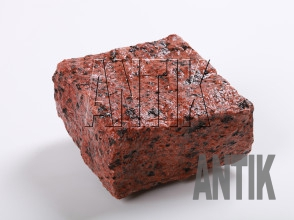 Брусчатка гранит колотая Лезниковское (Maple Red) 100x100x50 (мокрая)