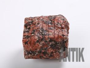 Брусчатка гранит колотая Капустинское (Rosso Santiago) 100x100x50 (мокрая)