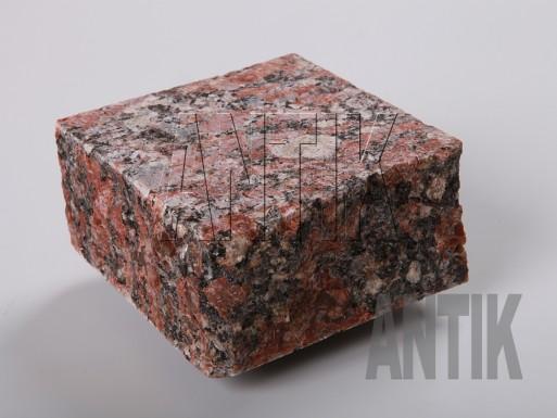 Брусчатка пилено-колотая Капустинское Rosso Santiago 100x100x50 термо