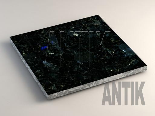 Добрынское (Extra Blue Ukraine) Лабрадорит плита облицовочная 400x400x20