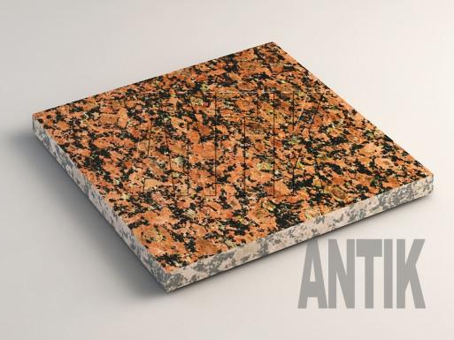 Емельяновское (Rosso Toledo) Гранит плита облицовочная 300x300x20