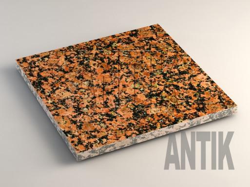 Емельяновское (Rosso Toledo) Гранит плита облицовочная 400x400x20