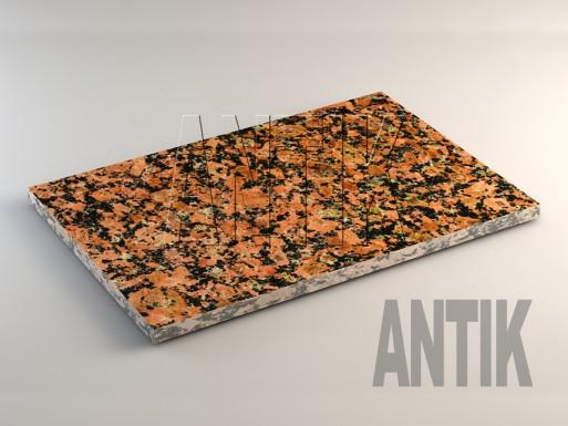 Емельяновское (Rosso Toledo) Гранит плита облицовочная 600x400x20
