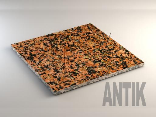 Емельяновское (Rosso Toledo) Гранит плита облицовочная 600x600x20