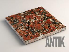 Капустинское (Rosso Santiago) Гранит плита облицовочная 300x300x20