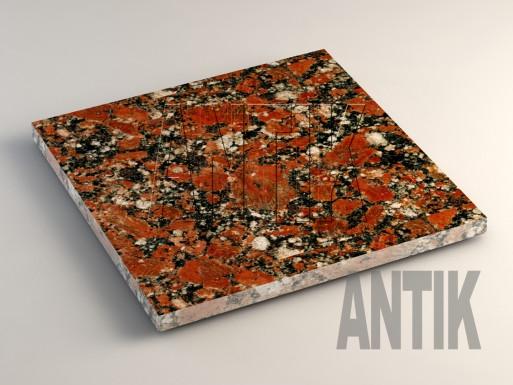 Капустинское (Rosso Santiago) Гранит плита облицовочная 400x400x20