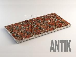 Капустинское (Rosso Santiago) Гранит плита облицовочная 600x300x20