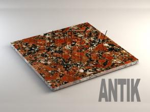 Капустинское (Rosso Santiago) Гранит плита облицовочная 600x600x20