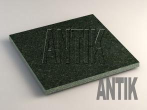 Луговое (Antik Nero) Габбро плита облицовочная 400x400x20