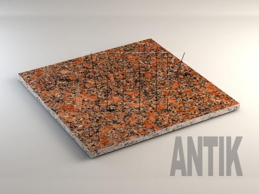 Новоданиловское (Withered) Гранит плита облицовочная 600x600x20
