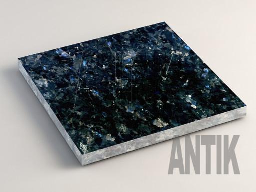 Очеретянское (Galactic Blue) Лабрадорит плита облицовочная 300x300x20