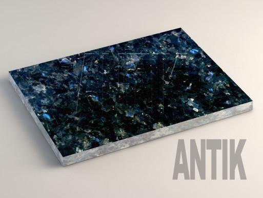 Очеретянское (Galactic Blue) Лабрадорит плита облицовочная 400x300x20
