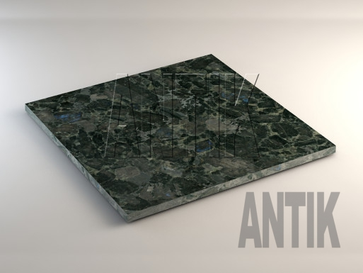 Слободское (Fantasy Azure) Лабрадорит плита облицовочная 600x600x20