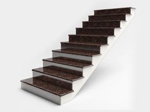Варианты применения каменных ступеней